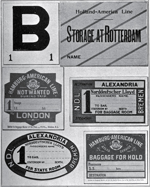 Fig 113 Types Of Baggage Labels