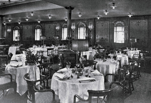 First Class Dining Room on Steamship