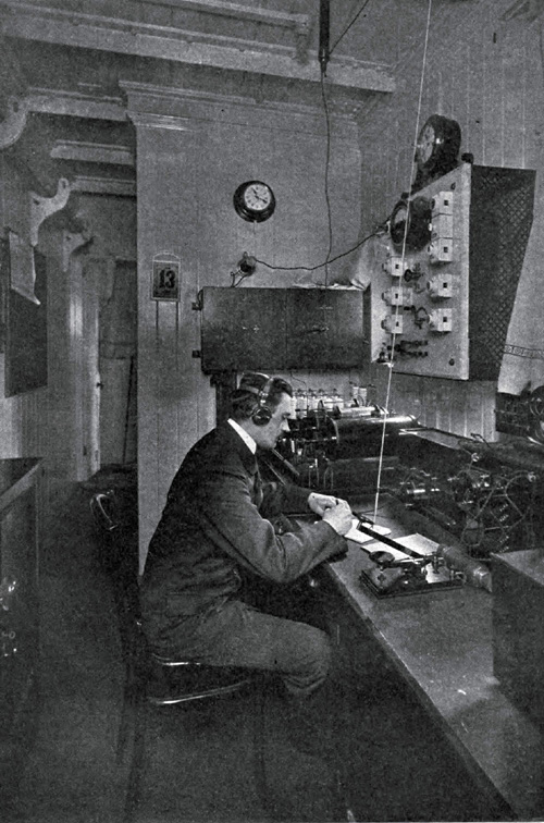 Photo 110 - Wireless Operator On A Steamship