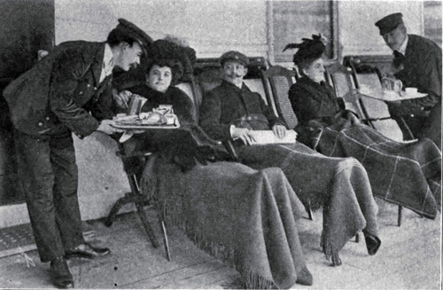 Photo 121 - Attentive Stewards Serve Soup to First Class Passengers