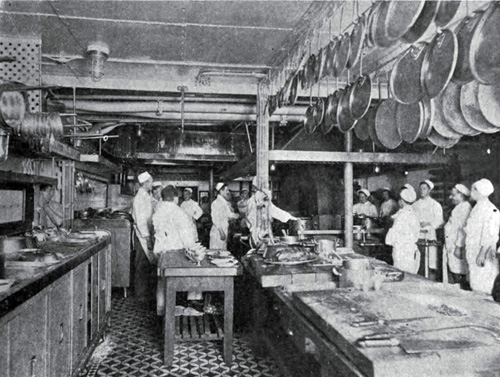 Photo 126 - Chefs Preparing Meals In The Ships Galley