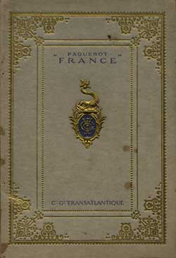1912 Launch Booklet on the SS France (Superb Brochure with many interior photographs)