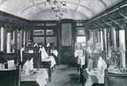 Interior of Restaurant Car