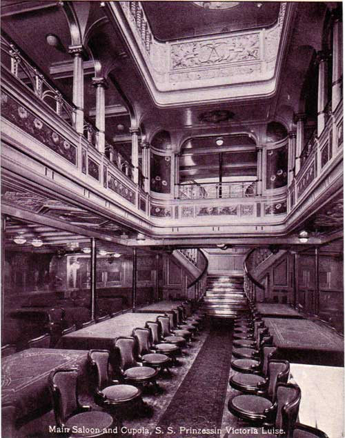 Main Saloon and Cupola - S.S. Prinzessin Victoria Luise
