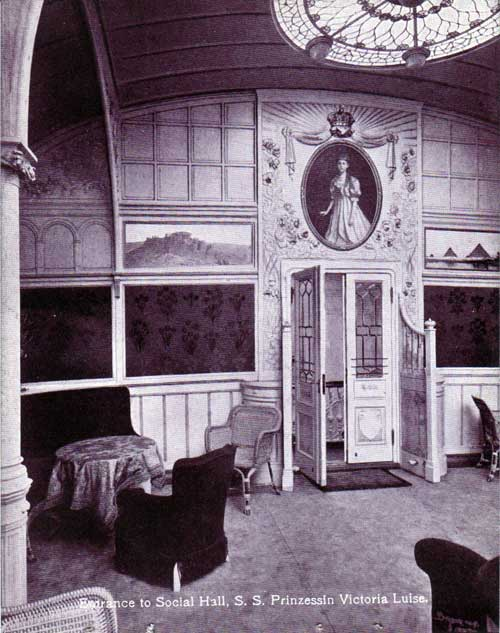 Entrance to Social Hall - S.S. Prinzessin Victoria Luise