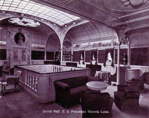 Social Hall - S.S. Prinzessin Victoria Luise