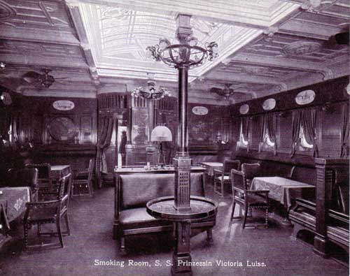 Smoking Room - S.S. Prinzessin Victoria Luise