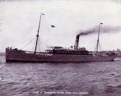 Type of Steamship of the Atlas Line Service