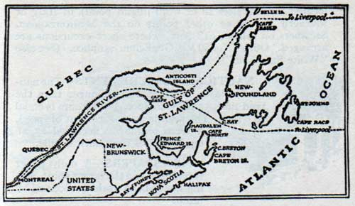 The popular St. Lawrence River route