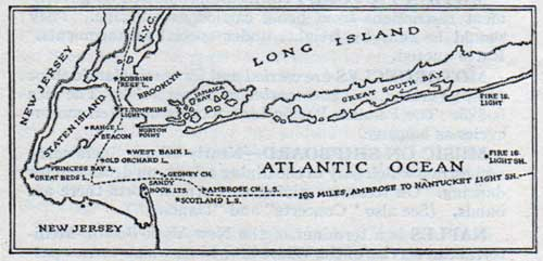 Approaches to New York Harbor