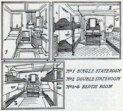 Representative staterooms