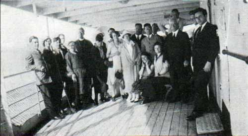 Group of Passengers on the Deck