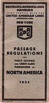 Passage Regulations Brochure from 1924