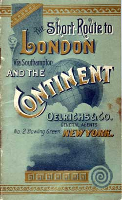 1889 The Short Route to London via Southampton and the Continent