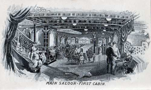 Main Saloon - First Cabin