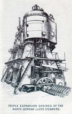 Triple Expansion Engines of the North German Lloyd Steamers