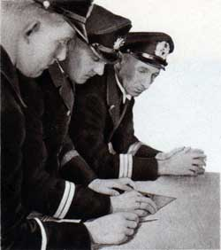 The course is determined at the chart table