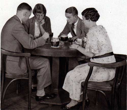 Passengers Relaxing in the Smoking Room