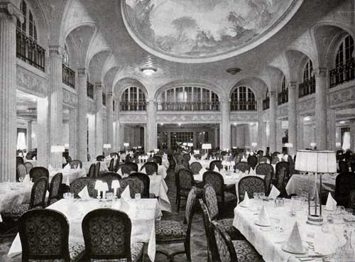 Lofty Central Hall Of First Class Dining Saloon