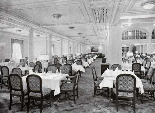Looking Down One Side of the Dining Saloon