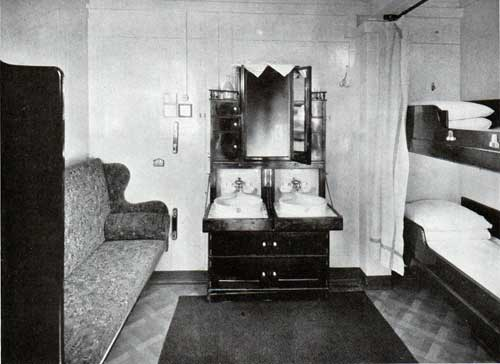 Second Class Stateroom, with Outside Light
