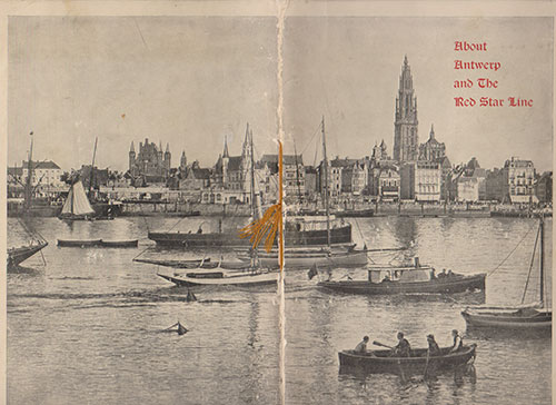 Cover of the About Antwerp and The Red Star Line (1904)