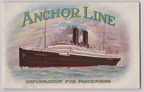 Front Cover, Anchor Line Information For Passengers (1912)