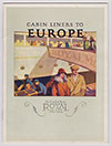 Front Cover, Cabin Liner To Europe - Royal Mail Steam Packet Company (RMSP) - n.d. c1923
