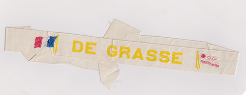 White Cap Tally  - S.S. De Grasse of the CGT French Line (1924-1953)