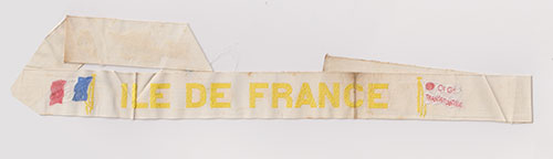 White Cap Tally - S.S. Ile De France of the CGT French Line (1926-1959)