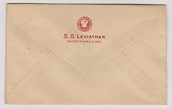 Envelope - SS Leviathan, United States Lines (c1925)