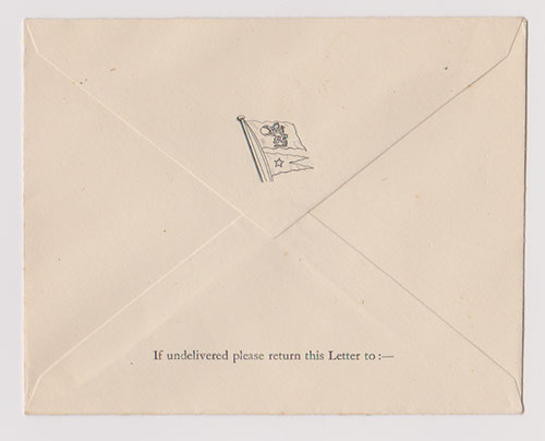 Envelope - M.V. Georgic of the White Star Line (1932-1941, 1945-1956)