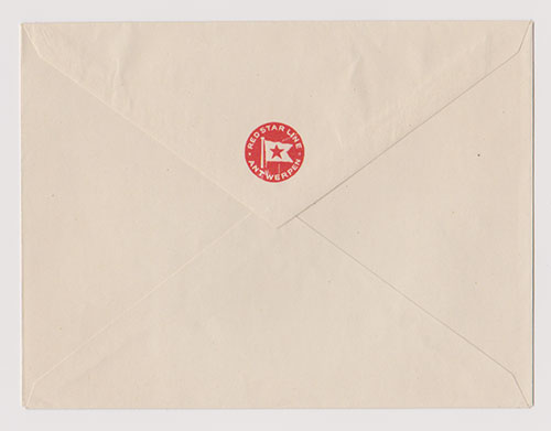 Red Star Line, Antwerpen Unused Letterhead Envelope (1924)