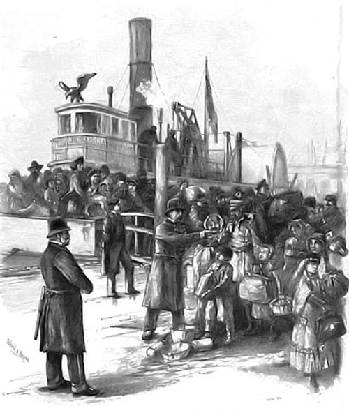 Landing Immigrants at Castle Garden in 1871