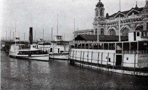 Aliens Landing from Barges at Ellis Island Station