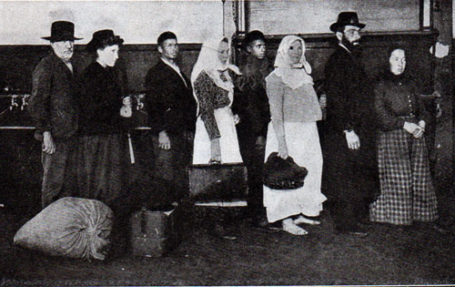 Type of Aliens Awaiting Admission At Ellis Island Station