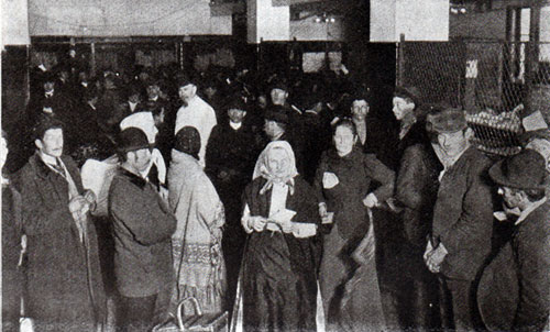 Aliens Waiting For Tickets at Railway Ticket Office, Ellis Island Station
