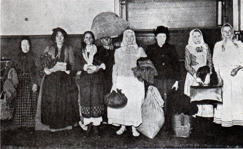 Types of Aliens Awaiting Admission at Ellis Island Station