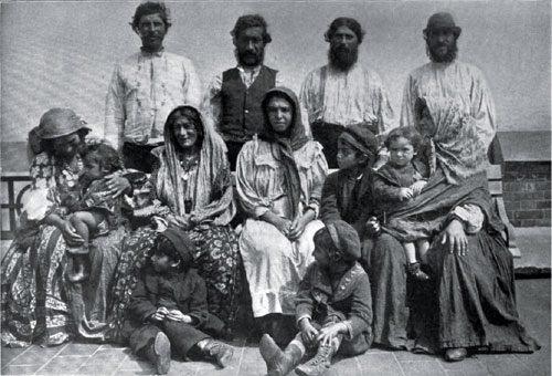 Photo of Gypsies from Servia at Ellis Island