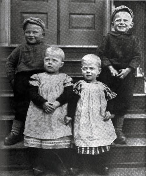 Four Young Dutch Immigrants Just Arrived At Ellis Island