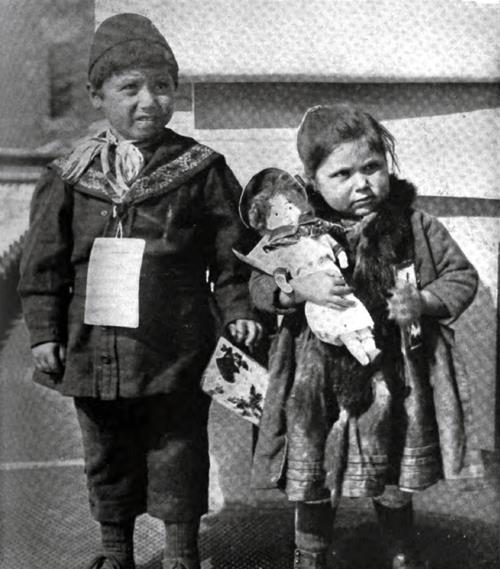 Immigrant Children From The Balkan States At Ellis Island