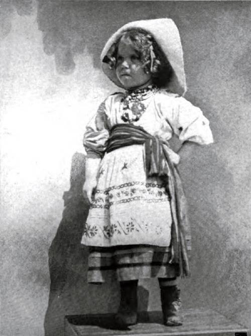 Young Immigrant Girl From Norway In Traditional Costume