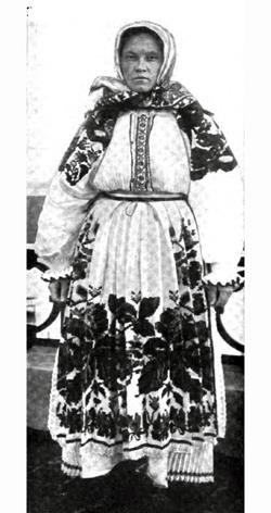 Immigrant Woman In Folk Costume At Ellis Island