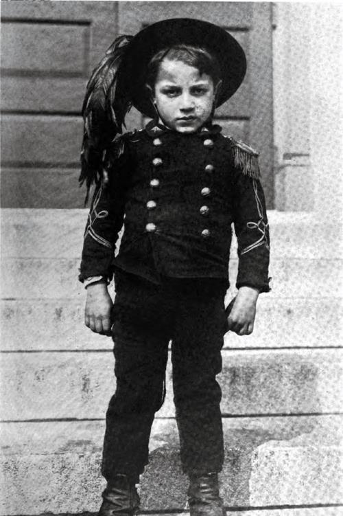 Italian Immigrant Boy Dressed As Soldier