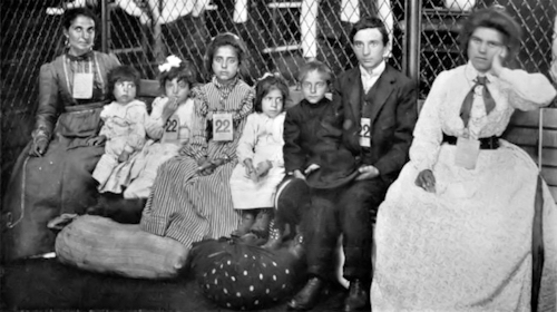 Typical Irish Immigrant Family at Ellis Island