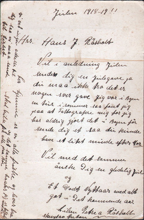1918 Letter From Petra A Rosholt To Hans Johansen Rosholt