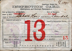 Inspection Card - White Star Line Germanic - 1902 Hans Johansen Rosholt