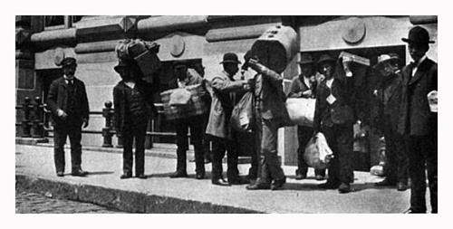 Italian Immigrants Leaving The Office Of The Society For The Protection Of Italian Immigrants