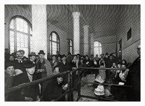 The Receiving Room at Ellis Island