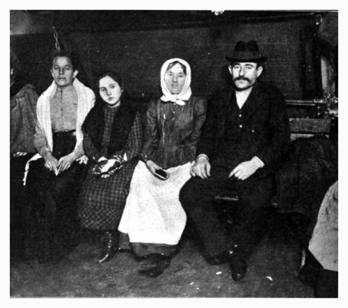 Detained Immigrants Awaiting Deportation at Ellis Island